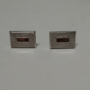 Swank signed rectangular silver tone cuff …